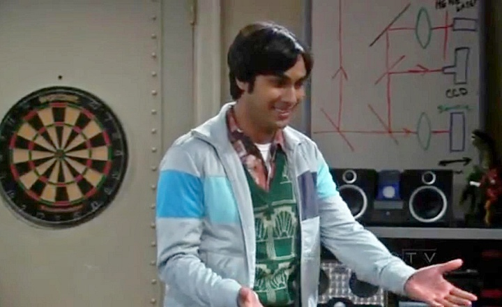 Theoretician's beam splitters in The Big Bang Theory