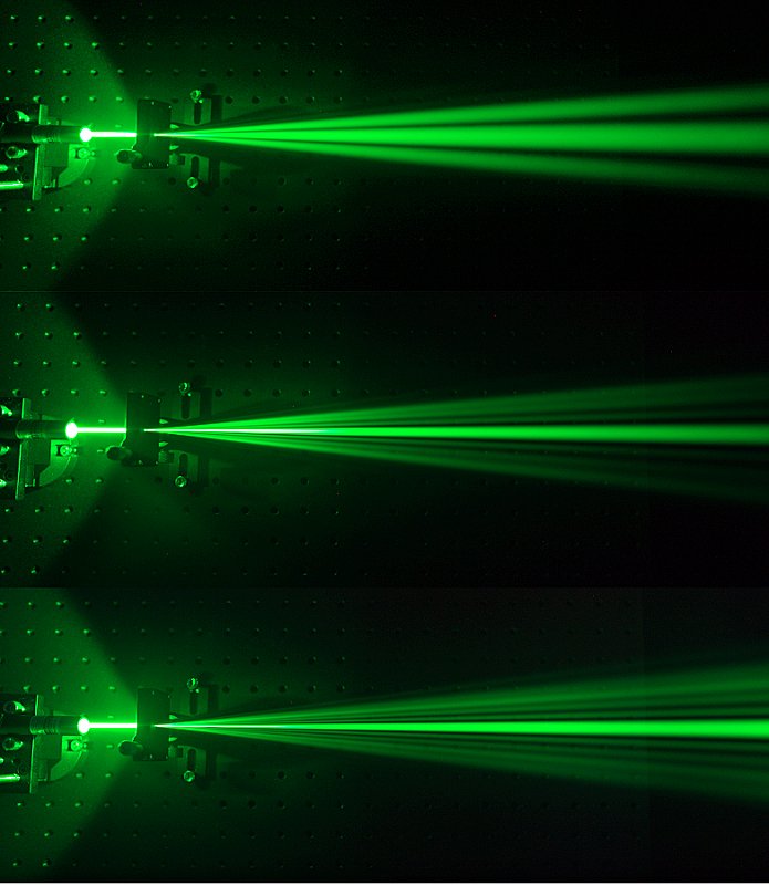 Heisenberg's uncertainty principle with laser pointer